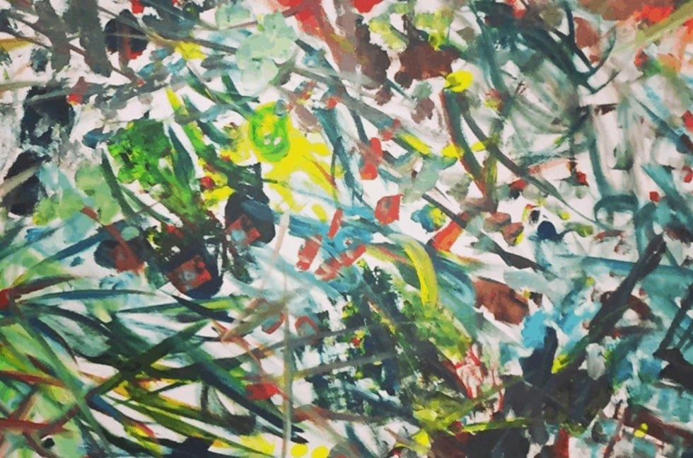 Acrylic on Canvas ~ A Collaboration